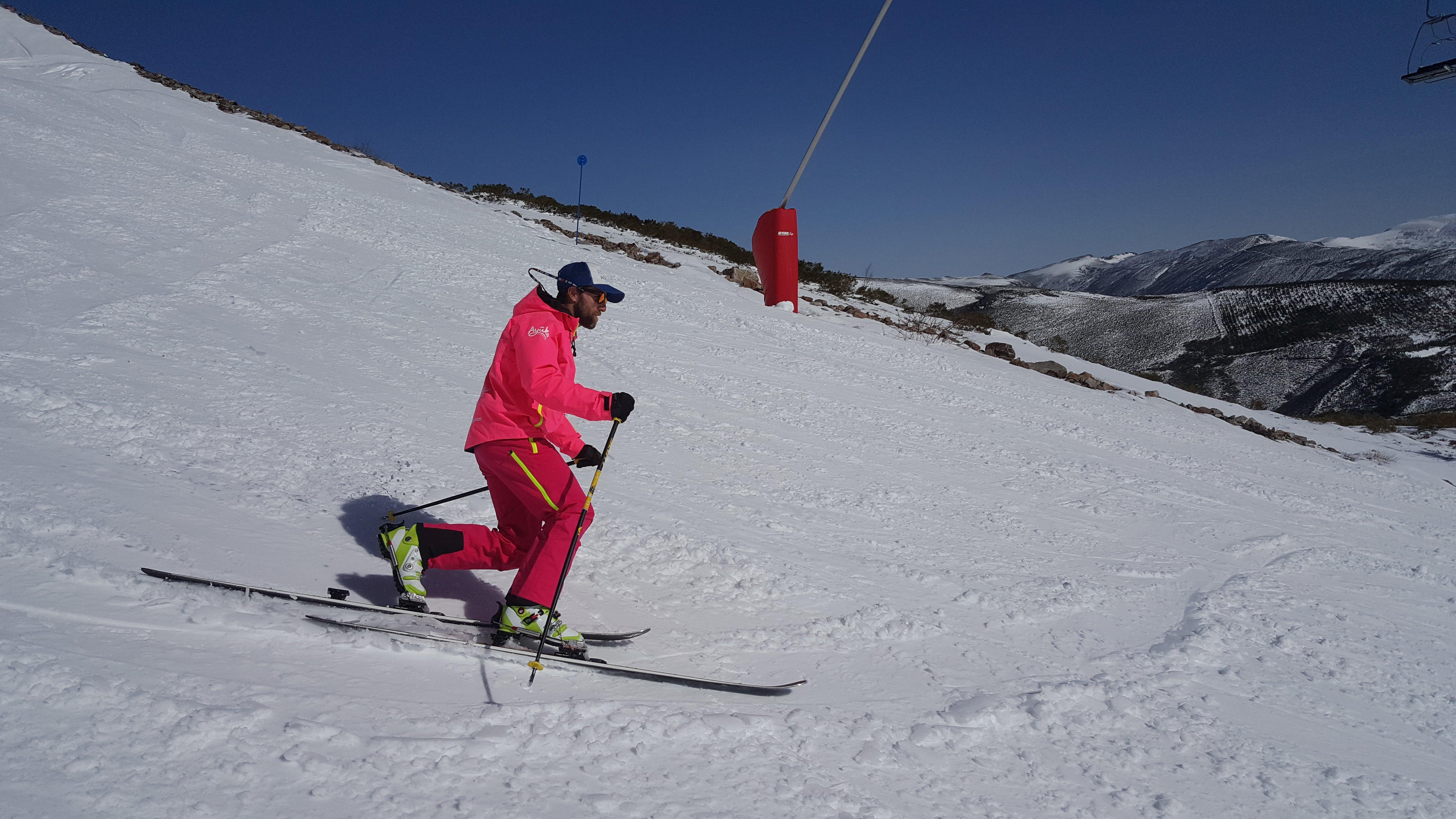 Telemark modalidad esquí