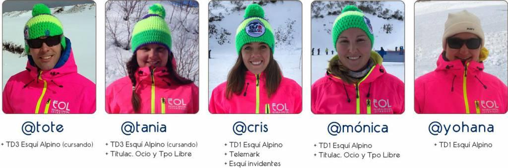 Los mejores profesionales de esquí y de snowboard con las más altas titulaciones.